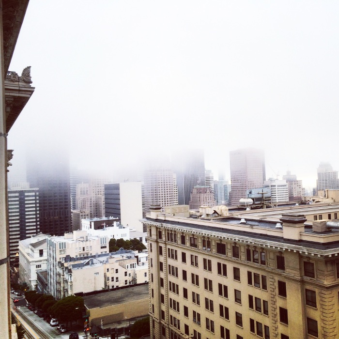 The view from The Fairmont in San Fran on our first honeymoon morning!
