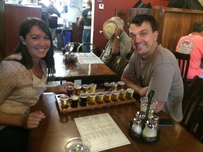 We sat next to a couple at RRB that has lunch and buys growlers every Tuesday! If we lived in Santa Rosa we probably would too.